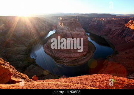 Der Horseshoe Bend, Colorado River, Arizona, USA - Stockfoto