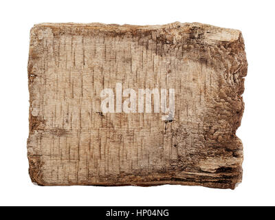 Holzbrett, braun, Natur, isoliert, Faktur, billet - Stockfoto