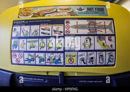 Flugzeuge Rettungszeichen - Stockfoto