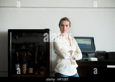 Restaurantbesitzer, portrait - Stockfoto