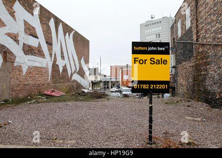 Land und Grundstück zu verkaufen in Hanley, Stoke-on-Trent - Stockfoto