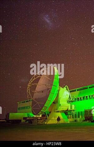 Dämmerung, starry, Sky, Ganglion, sternendodekaeder, Alma Observatorium, Antennen in der Ebene von chajnantor, Atacama - Stockfoto