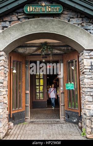 Otaru Bier Pub, Otaru, Hokkaido, Japan, Asien - Stockfoto
