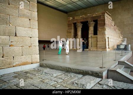 Die MET, Metropolitan Museum of Art der Tempel von Dendur, New York City, USA - Stockfoto
