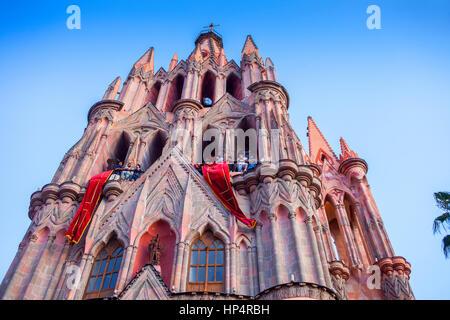 Parroquia de San Miguel Arcángel, San Miguel de Allende, state Guanajuato, Mexiko - Stockfoto