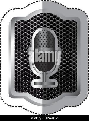 Emblem-Mikrofon-Symbol-Lager Vektor Abbildung - Bild: 134103862 - Alamy