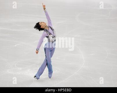 Gangneung, östlich von Seoul, Südkorea. 17. Februar 2017. Yuzuru Hanyu (JPN) Eiskunstlauf: ISU vier Kontinente Figure - Stockfoto