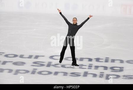 Gangneung, östlich von Seoul, Südkorea. 17. Februar 2017. Jason Brown (USA) Eiskunstlauf: ISU vier Kontinente Figure - Stockfoto