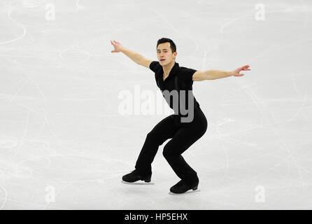 Gangneung, östlich von Seoul, Südkorea. 17. Februar 2017. Patrick Chan (CAN) Eiskunstlauf: ISU vier Kontinente Figure - Stockfoto