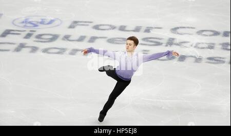 Gangneung, östlich von Seoul, Südkorea. 17. Februar 2017. Misha Ge (UZB) Eiskunstlauf: ISU vier Kontinente Figure - Stockfoto