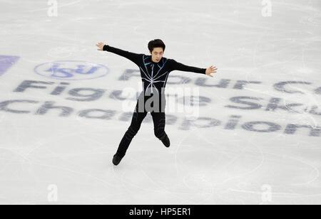 Gangneung, östlich von Seoul, Südkorea. 17. Februar 2017. Boyang Jin (CHN) Eiskunstlauf: ISU vier Kontinente Figure - Stockfoto