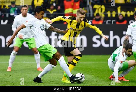 Signal-Iduna-Park, Dortmund, Deutschland. 18. Februar 2017. Deutsche Fußball Bundesliga-Saison 2016/17, 21, Borussia - Stockfoto
