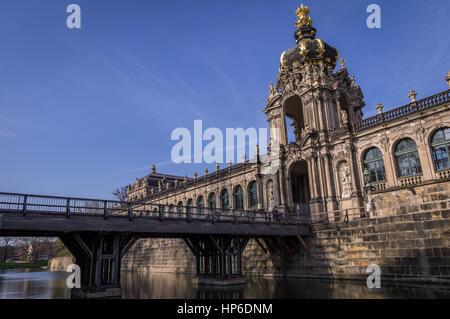 Crown Gate am Dresdner Zwinger - Stockfoto