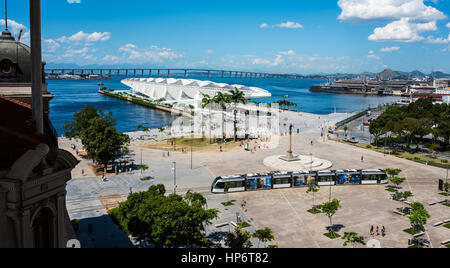 Rio De Janeiro, Brasilien - entworfen 4. Januar 2017, Museum von morgen (Morgen-Museum), vom spanischen Architekten - Stockfoto