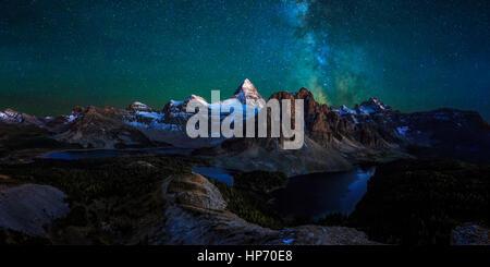 Mt Assinniboine Provincial Park, Kanada - Stockfoto