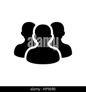 Symbol einer Person isoliert auf weißem Hintergrund Stockfoto