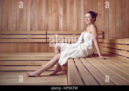 Frauen Und Männer In Der Sauna