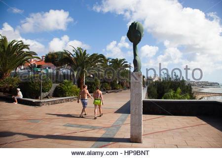 Maspalomas, Promenade und Playa del Ingles, Gran Canaria, Canarie, spagna - Stockfoto