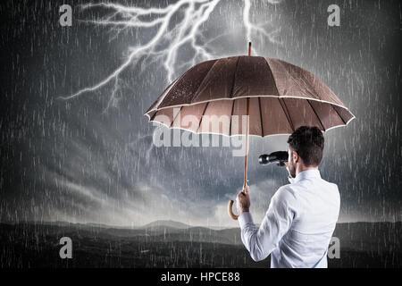 Business-Sturm. Krisenkonzept - Stockfoto