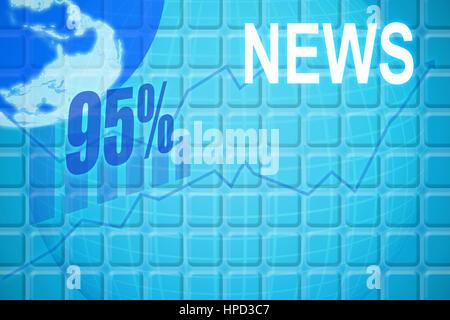 Abbildung von 95 Prozent gegen blau