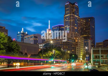 Dallas ist die neunte bevölkerungsreichste Stadt in den Vereinigten Staaten von Amerika und die drittgrößte Stadt - Stockfoto