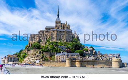 Frankreich, Normandie (Normandie), Manche Abteilung, Le Mont-Saint-Miichel. Abbaye du Mont Saint-Michel, UNESCO - Stockfoto