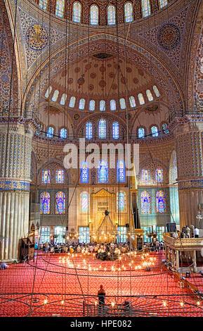 Moschee Sultan Ahmet, blaue Moschee. Istanbul. Turkei - Stockfoto