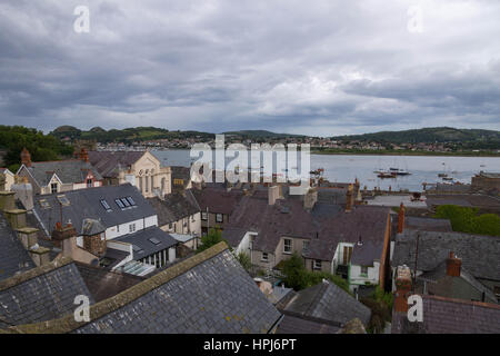 Conwy Town, Wales, England - Stockfoto