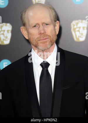 12. Februar 2017 - Ron Howard Teilnahme an EE British Academy Film Awards 2017 am Royal Opera House in London, England, - Stockfoto