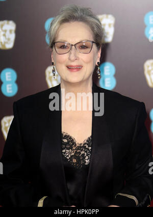 12. Februar 2017 - Meryl Streep Teilnahme an EE British Academy Film Awards 2017 am Royal Opera House in London, - Stockfoto