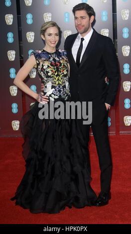 12. Februar 2017 - Emily Blunt Teilnahme an EE British Academy Film Awards 2017 am Royal Opera House in London, - Stockfoto