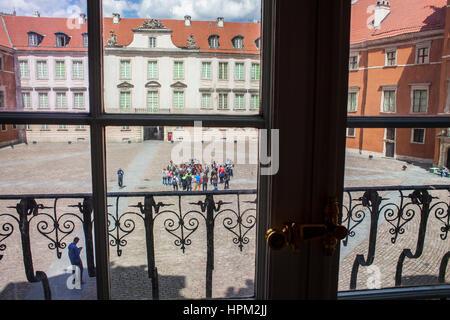 Königliche Schloss, Innenhof, Warschau, Polen - Stockfoto