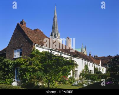 Vikare schließen und Chichester Cathedral. West Sussex. England. UK - Stockfoto