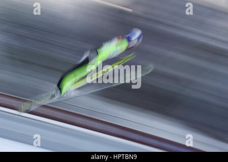 Lahti, Finnland. 24. Februar 2017. 24.02.2017 Lahti Gregor Schlierenzauer (AUT), FIS Nordischen Ski-WM Ski springen, - Stockfoto
