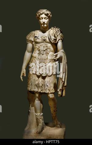 Marcus Aurelius (Marcus Aurelius Antoninus Augustus 121 –180 AD) war, dass in Tivoli, Italien, römischer Kaiser - Stockfoto