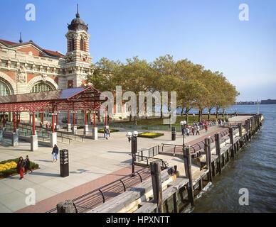 Das Ellis Island Immigration Museum, Ellis Island, Upper New York Bay, New York, New York State, Vereinigten Staaten - Stockfoto