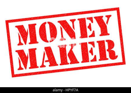 MONEY MAKER roten Stempel auf einem weißen Hintergrund. - Stockfoto