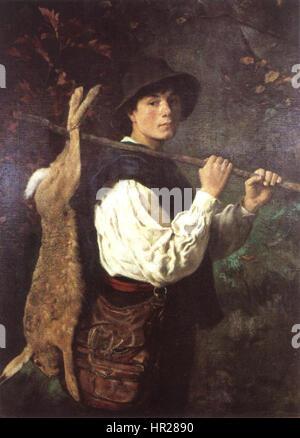 Otto Scholderer Junge Mit Hasen - Stockfoto