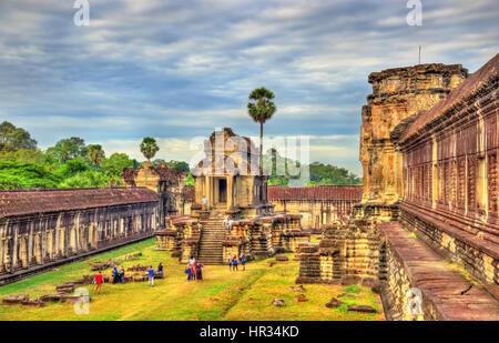 Tausend Gott Bibliothek in Angkor Wat, Kambodscha - Stockfoto