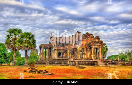 Alte Bibliothek am Angkor Wat, Kambodscha - Stockfoto