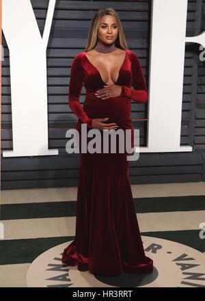Beverly Hills, Kalifornien, USA. 26. Februar 2017. Ciara auf der Vanity Fair Oscar Party 2017 am 26. Februar 2017 - Stockfoto