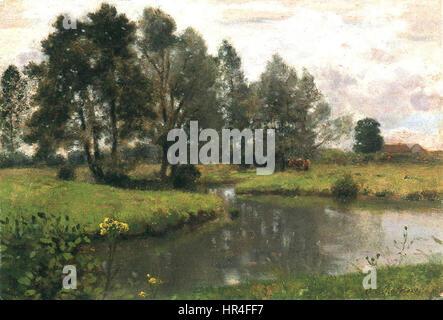 Otto Scholderer Englische Landschaft - Stockfoto