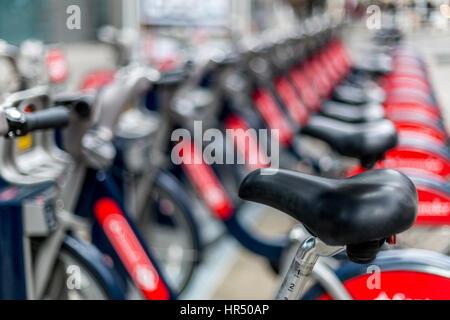 Santander-Zyklus Bikesharing-System London - Stockfoto
