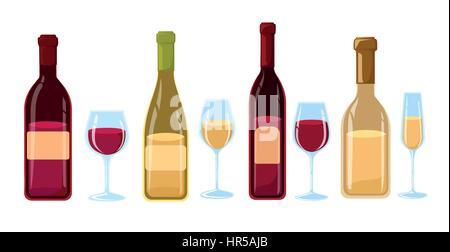 men alkoholische getr nke vektor etiketten wein bier whisky brandy rum lik r wodka. Black Bedroom Furniture Sets. Home Design Ideas