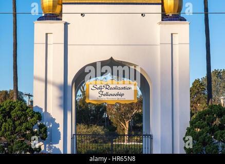 Selbst-Realisierung Stipendium unterschreiben. Encinitas, Kalifornien. - Stockfoto