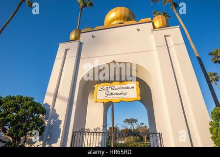 Golden Lotus Kuppel der Selbstverwirklichung Gemeinschaft. Encinitas, Kalifornien. - Stockfoto