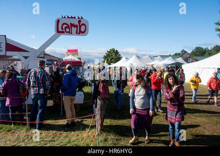Gemeinsame Masse Country Fair ist eine einzigartige Feier der ländlichen New england Leben, jährlich am dritten - Stockfoto