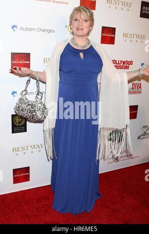 Los Angeles, Kalifornien, USA. 26. Februar 2017. Alison Arngrim im Ankunftsbereich für Hollywood Oscar anzeigen - Stockfoto