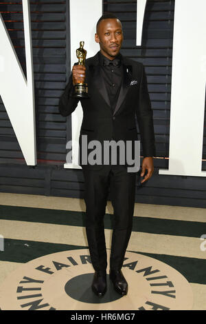 Beverly Hills, Kalifornien, USA. 26. Februar 2017. Mahershala Ali. 2017 Vanity Fair Oscar Party statt im Wallis - Stockfoto