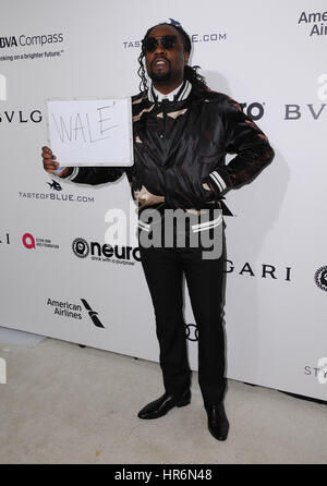 West Hollywood, Kalifornien, USA. 26. Februar 2017. Wale. 25. jährlichen Elton John Academy Awards Viewing Party - Stockfoto
